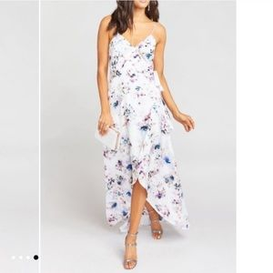 Show Me Your Mumu Mariah Wrap Dress Bouquet Beauty